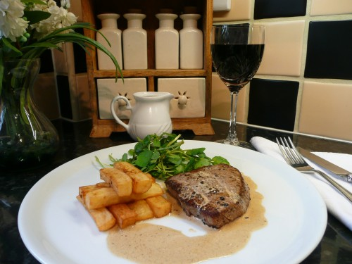 Steak Au Poivre with Chunky Chips